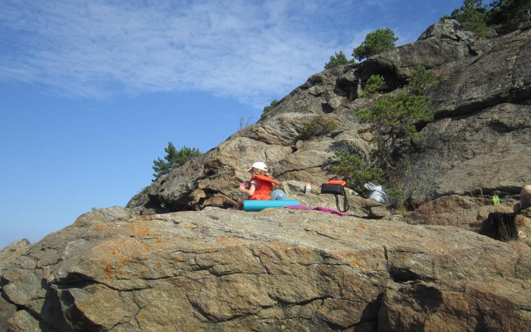 ryssberget, barn på klippa